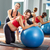 mujer · embarazada · pilates · ejercicio · entrenamiento · gimnasio · entrenador · personal - foto stock © lunamarina