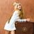 szőke · gyerekek · lány · retro · 70-es · évek · klasszikus - stock fotó © lunamarina