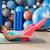 ab exercise woman swiss ball leg lifts pilates stock photo © lunamarina