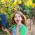 farmer kid girl in vineyard eating grape in mediterranean autumn stock photo © lunamarina