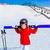 kid girl winter snow with ski equipment stock photo © lunamarina