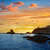 deniz · feneri · gün · batımı · plaj · ışık · turuncu - stok fotoğraf © lunamarina