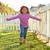 kid girl toddler playing running in park outdoor stock photo © lunamarina