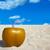 kókusz · ital · trópusi · tengerpart · fehér · homok · égbolt · víz - stock fotó © lunamarina