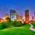 houston texas modern skyline at sunset twilight on park stock photo © lunamarina