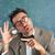 NERD · глупый · Crazy · очки · человека · смешные - Сток-фото © lunamarina