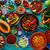 Chile · mexicano · recheado · ovo · prato · garfo - foto stock © lunamarina