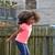 weinig · meisje · spelen · park · groen · blad - stockfoto © lunamarina