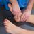 женщину · ногу · массаж · мужчины · терапевт - Сток-фото © lunamarina
