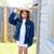 szczęśliwy · dziewczynka · cowboy · hat · ranczo · dziewczyna · dziedzinie - zdjęcia stock © lunamarina