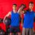 kettlebell and weighted ball workout gym men stock photo © lunamarina