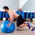 fitball abdominal push ups swiss ball stock photo © lunamarina