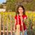 felice · bambina · girasoli · primo · piano · ritratto · cute - foto d'archivio © lunamarina