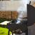 barbecue with smoke side view stock photo © lunamarina