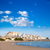 gaivotas · praia · voador · mediterrânico · mar · pôr · do · sol - foto stock © lunamarina