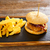 batatas · fritas · mesa · de · madeira · tabela · sanduíche · conselho - foto stock © lunamarina
