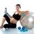красивой · беременная · женщина · фитнес · спортзал · аэробика - Сток-фото © lunamarina