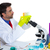 chemical laboratory scientist man with test tubes stock photo © lunamarina