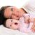 baba · ásít · anya · fiú · elvesz · szieszta - stock fotó © lunamarina