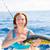 синий · морем · морской · рыбак - Сток-фото © lunamarina