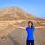 fuerteventura girl in tindaya mountain at canary stock photo © lunamarina