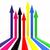 虹 · 右回りに · 方向 · 抽象的な · 白 - ストックフォト © lupen