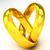 coração · anéis · de · casamento · branco · 3D · imagem · amor - foto stock © lupen