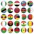 Zambia · zászló · gomb · világ · zöld · kék - stock fotó © luppload
