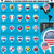 america pointer flag icons with american map set1 stock photo © luppload