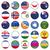 ruso · banderas · botones · jpg · eps10 - foto stock © Luppload