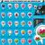 european icons round indicator flags and map set3 stock photo © luppload