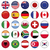 Set of Round Flags world top states stock photo © Luppload