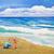 девочку · матери · пляж · воды · девушки · стороны - Сток-фото © lynnealbright