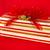 rosso · oro · bianco · strisce · regalo · pacchetto - foto d'archivio © LynneAlbright