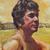 ハンサム · 紳士 · ハンサムな男 · 距離 · アクリル · 絵画 - ストックフォト © LynneAlbright