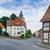 tradicional · medieval · vermelho · branco · arquitetura · blue · sky - foto stock © macsim