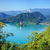 photo from air perspective bled lake with island stock photo © macsim