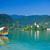 colorful boat on lake bled slovenia stock photo © macsim