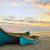 pêcheur · bateau · coucher · du · soleil · été · temps · ciel - photo stock © mady70