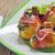 sült · krumpli · szalonna · gombák · finom · étel - stock fotó © mady70