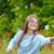kız · sabun · köpüğü · küçük · kız · gökkuşağı · yaz · park - stok fotoğraf © mady70