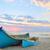 largo · cola · barco · playa · puesta · de · sol · sol - foto stock © mady70