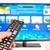 Smart · tv · mano · telecomando · computer - foto d'archivio © mady70