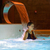 サウナ · プール · 表示 · 若い女性 - ストックフォト © mady70
