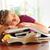 oberati · di · lavoro · donna · dormire · libri · ufficio - foto d'archivio © mady70