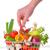 野菜 · バスケット · 木製のテーブル · 金属 · 食品 - ストックフォト © mady70