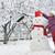 uśmiechnięty · młoda · kobieta · objętych · śniegu · kobieta · twarz - zdjęcia stock © mady70