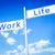 работу · жизни · баланса · указатель · жизни · изображение - Сток-фото © magann