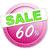 60 · percentage · icon · witte · zestig - stockfoto © magann
