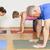pilates · pessoas · grupo · exercer · homem · mulheres - foto stock © magann